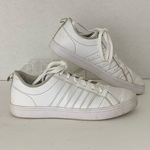 Adidas Sneakers White Leather Upper Casual  8